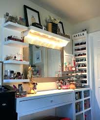Bedroom Makeup Vanity With Lights Vanity Makeup Dresser Kolo3 Info