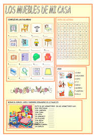 my house furniture spanish instruction materials pinterest