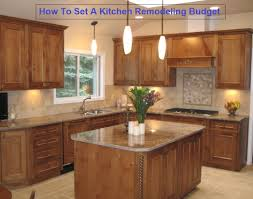 setting a kitchen remodeling budget