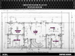 Basic Duplex Floor Plans Building Codes And Byelaws For Duplex House