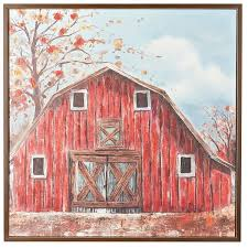 the red barn framed canvas art print 185 cad liked on
