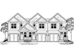 Multi Family House Plans Triplex Contemporary 4 Unit Apartment House Plan Multi Family House Plan
