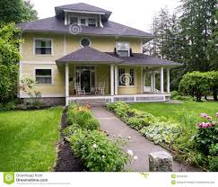 beautiful house with porch stock photo image 25105340