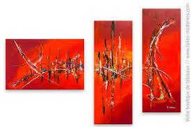 Tableau Abstrait Rouge Et Gris by Tableau Rouge Art Abstrait Forte Chaleur