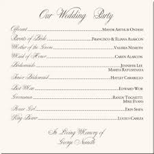order of ceremony for wedding program flourish heart wedding program exles wedding program wording