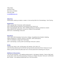Cosmetology Resume Examples by Itil Certified Resume Resume For Your Job Application Cost