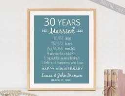 30th anniversary gifts for parents custom 30th anniversary gift sign for parents personalized 30th