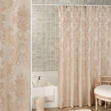 bath home decor touch of class bianca champagne damask shower curtain by j queen new york