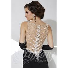pearl necklace tiffany images Tiffany designs 16099 v neck beaded bodice pearl necklace illusion jpg
