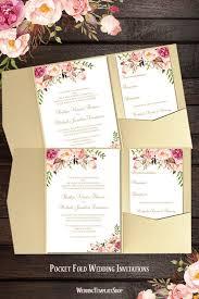 pocket invitations pocket fold wedding invitations blossoms wedding