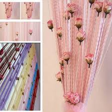 Diy Curtain Room Divider by Aliexpress Com Buy Diy Curtain 100 200cm Romantic Rose Floral