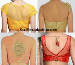 pattern of net blouse net back neck blouse designs blouse designs gold blouse and saree