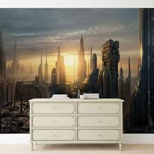 star wars city coruscant wall paper mural buy at abposters com star wars city coruscant wallpaper mural facebook google pinterest price