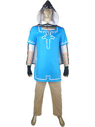 Zelda Halloween Costumes Legend Zelda Breath Wild Link Blue Halloween