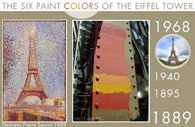 the six paint colors of the eiffel tower
