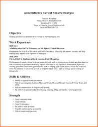 Business Letter Template Microsoft Word by Clerical Resume Format Data Entry Resume Sample Writing Guide Rg