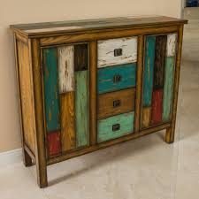 Distressed Wood Bar Cabinet Delaney Antique Multicolor Distressed Wood Storage Cabinet Gdf
