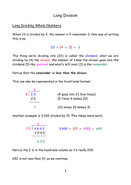 long division by mpatel777 teaching resources tes