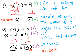 example 4 incorrect and correct way to solve an equation