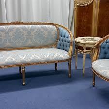 FrenchCameoSofaSet Mahogany By Hand - Cameo sofa