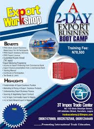a 2 day export bootcamp weekday 3timpex