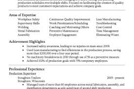 Supervisor Resume Sample Free by Production Supervisor Resume Format Reentrycorps