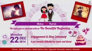 Prepare Invitation Card Online Animated Engagement Invitation Video By Eyegrabbers In Youtube