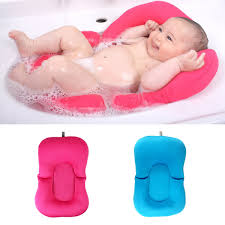 Bathtub Ring Seat Baby Bath Tub Pillow Pad Lounger Air Cushion Floating Soft Seat