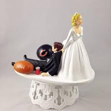 grooms cake toppers handmade wedding cake topper football themed chicago bears