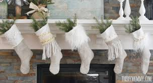 Anthropologie Room Inspiration by Sew Linen Burlap Christmas Stockings Anthropologie Inspired