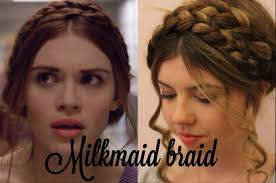 lydia martin hair lydia s milkmaid braid hair tutorial youtube