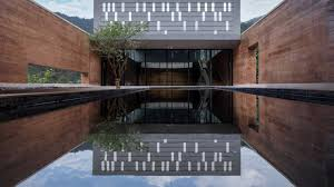 red house design studio jingdezhen dl atelier builds museum with rammed earth walls near porcelain