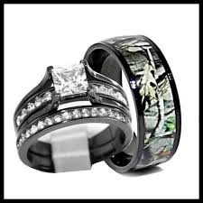 his and camo wedding rings camo wedding ring sets his and hers 2018 weddings