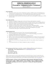 Maintenance Description For Resume Administrative Assistant Job Description For Resume Template