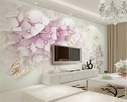 compare prices on 3d purple wall murals online shopping buy low beibehang photo wall mural wallpaper 3d purple flower crystal jewelry leaf butterfly tv background wall wallpaper