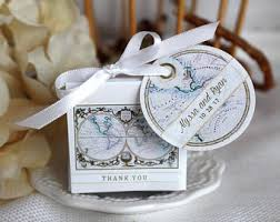 Map Favors by Map Favor Boxes Etsy