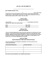 free last will and testament form idaho fill online printable
