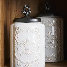 fleur de lis kitchen canisters fleur de lis 3 kitchen canister set reviews joss