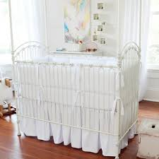 White Ruffle Crib Bedding Babies White Crib Bedding