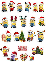 edible minions christmas minions edible stand up wafer paper cupcake toppers