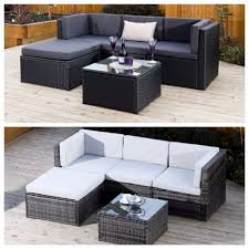 Bali Rattan Garden Furniture by Black Grey Corner Modular Rattan Weave Corner Sofa Set Garden