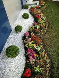 wonderful landscaping ideas with white pebbles and stones page 3