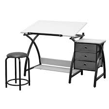 White Drafting Table Studio Designs Comet Black White Drafting Hobby Craft Table With