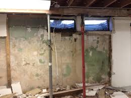 Block Basement Wall Repair by City Waterproofing Akron Basement Waterproofing Foundation