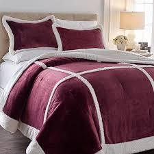 Patchwork Comforter Soft U0026 Cozy Patchwork Plush Sherpa Comforter Set 8430871 Hsn