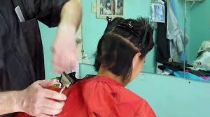 how to undercut unigle long hair hairxx 009 long to undercut bob bowl short