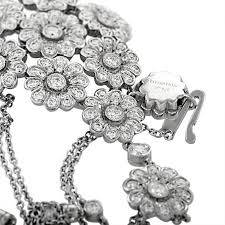 flower tiffany necklace images Tiffany and co diamond platinum flower cluster pendant necklace jpeg