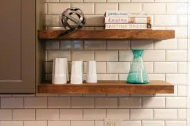 Kitchen Shelves Vs Cabinets Wall Shelves Design Modern Wall Mounted Wood Kitchen Shelves