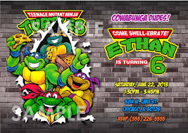 ninja turtle birthday party invitations dolanpedia invitations ideas lastly prepare souvernir for everyone to bring home you can give the kids ninja turtles toys or t shirt with the birthday photo for everyone