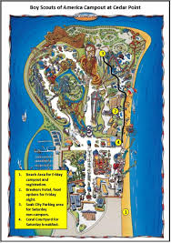 Ohio Campgrounds Map by Cedar Point Heart Of Ohio Council